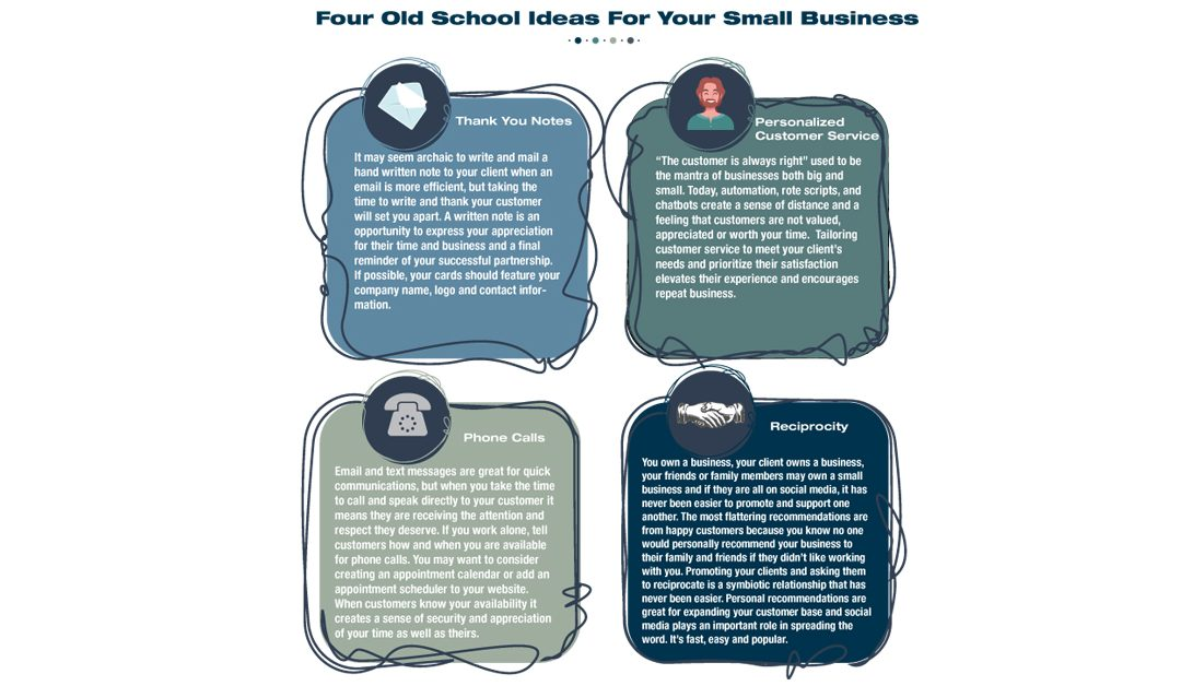 Four Old School Ideas For Your Small Business